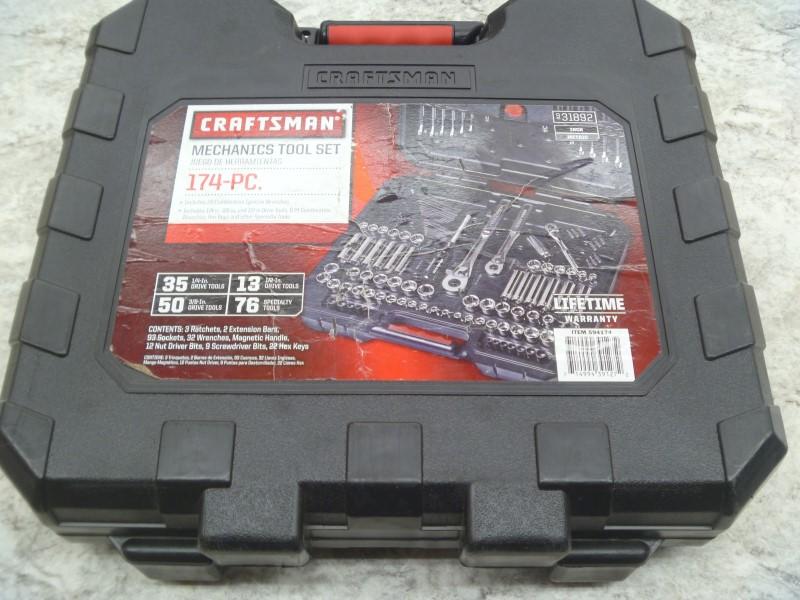 CRAFTSMAN 31892 174 PC MECHANICS TOOL SET
