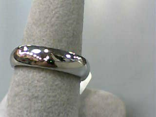 Lady's Gold Wedding Band 14K White Gold 4.1dwt Size:7