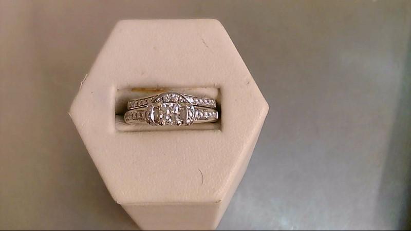 Lady's Diamond Wedding Set 45 Diamonds 1.31 Carat T.W. 14K White Gold 8.5g