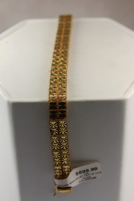 GOLD FASHION BRACELET 14KYG 14.6