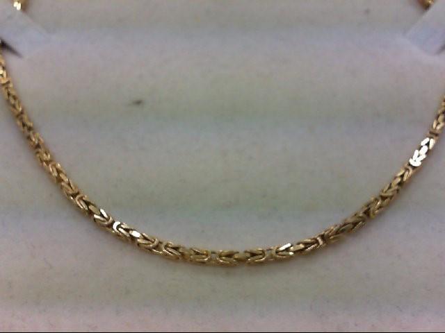 "19"" Gold Turkish Chain 14K Yellow Gold 16.1g"