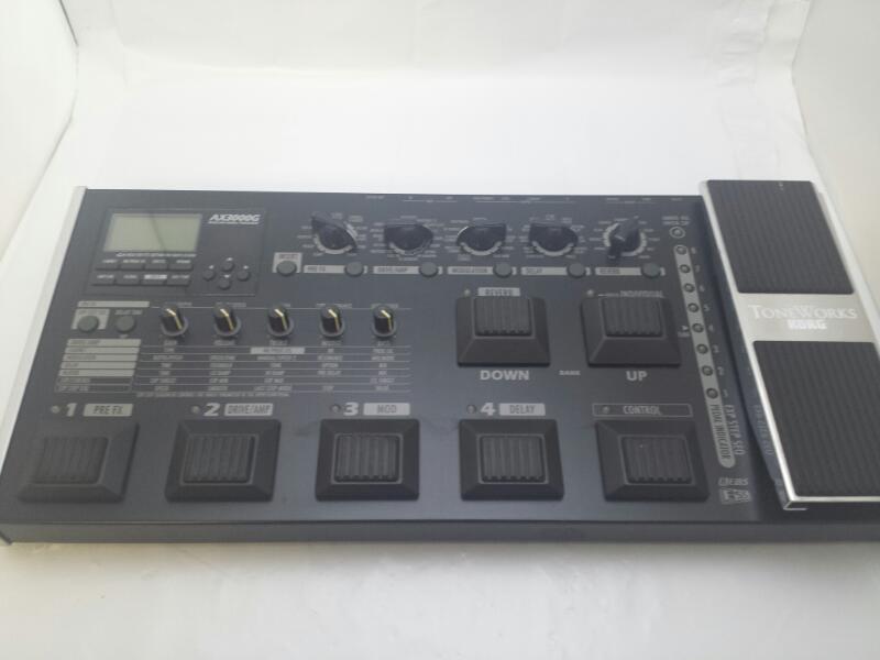 KORG AX3000G ToneWorks Modeling Multi Guitar Effect FX Pedal Board