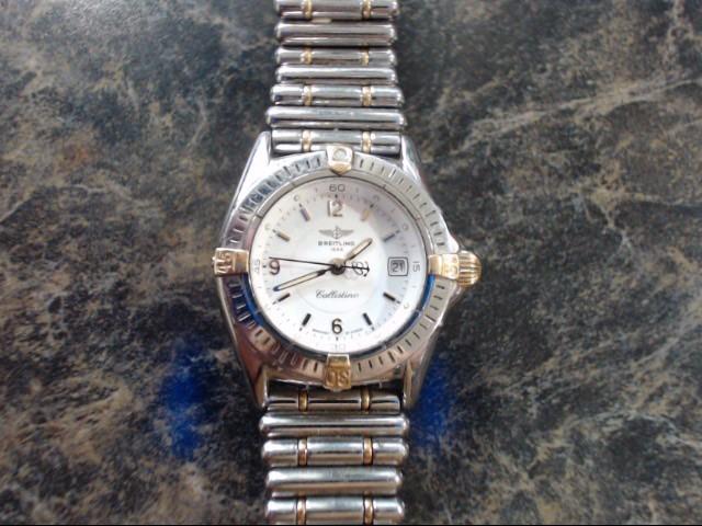 BREITLING Lady's Wristwatch CALLISTINO STAINLESS STEEL & GOLD