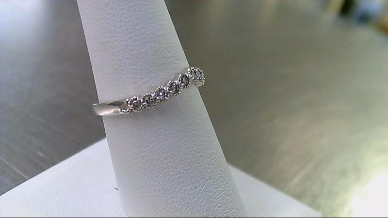Lady's Diamond Wedding Band 12 Diamonds .24 Carat T.W. 14K White Gold 2.2g