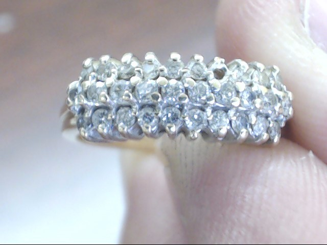 Lady's Diamond Fashion Ring 30 Diamonds .30 Carat T.W. 10K Yellow Gold 3.1g