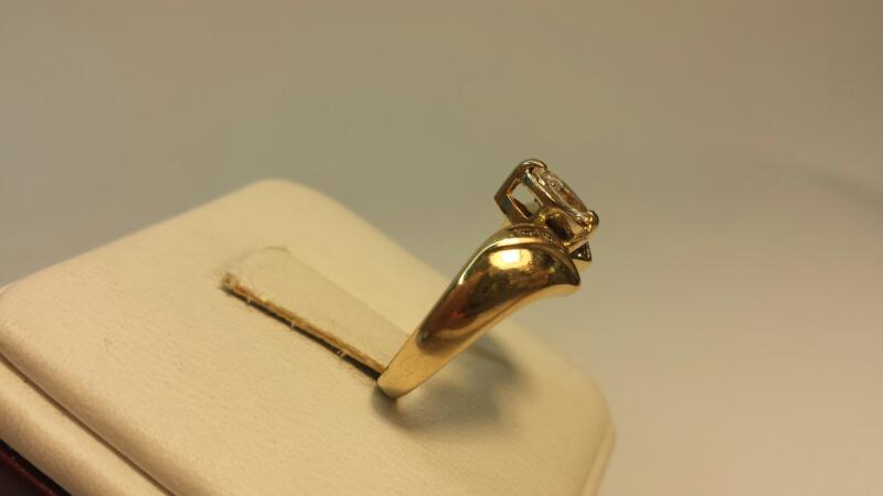 14k Yellow Gold Band with 11 Diamonds at .66ctw - 2.1dwt - Size 6.5