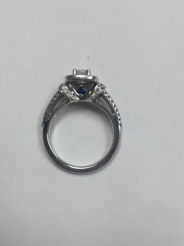 Lady's Diamond Engagement Ring 61 Diamonds .91 Carat T.W. 14K White Gold 2.8dwt