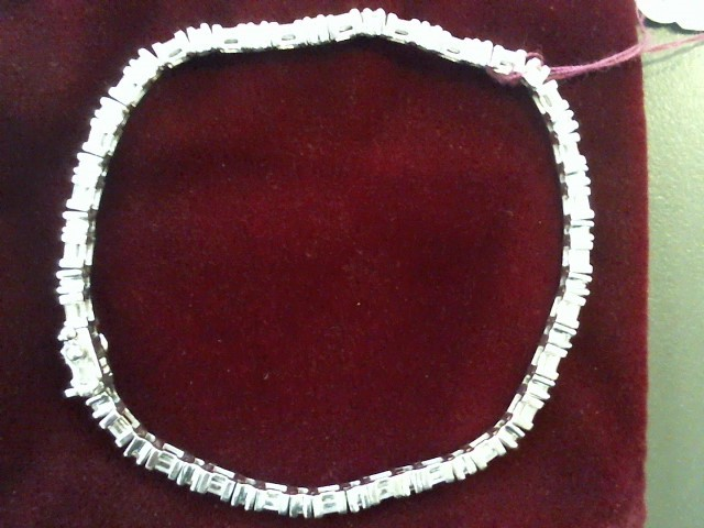 Gold-Diamond Bracelet 84 Diamonds 1.68 Carat T.W. 14K White Gold 8g