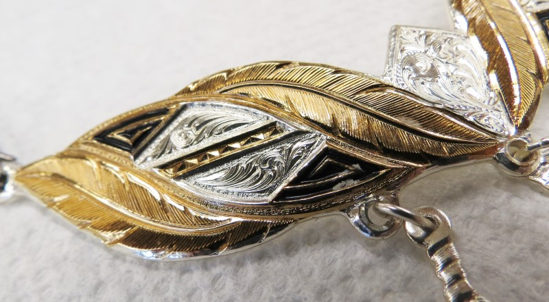 """Montana Silversmith's Necklace, Tricolor, 18"""" Twisted Chain"""