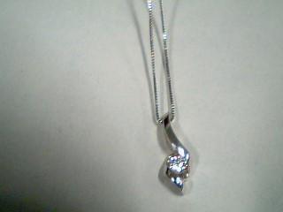 Diamond Necklace .10 CT. 14K White Gold 1.7g