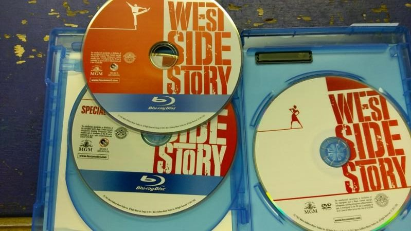 50TH ANNIVERSARY EDITION 3 DISK SET WEST SIDE STORY BLUE RAY