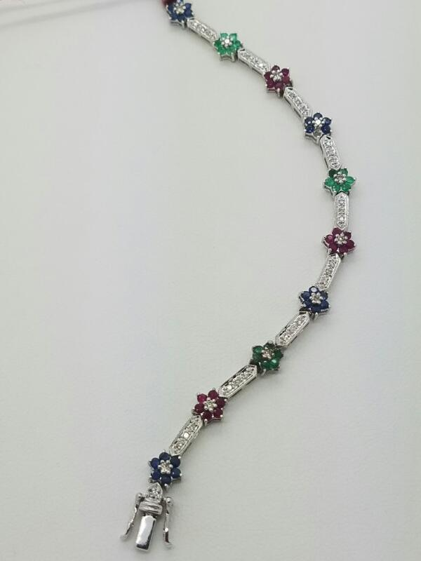 DIAMOND COBRA DIAMOND BRACELET L'S 14KT DIAMOND COBRA MISSING 3 STONES 5.2/WG