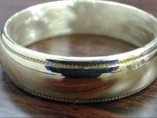 VINTAGE BEAD EDGE SOLID 14K REAL GOLD WEDDING RING BAND MEN SIZE 8.5