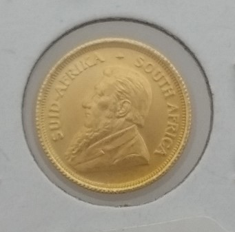 1980 South African 1/10 oz South African Krugerrand Gold Coin