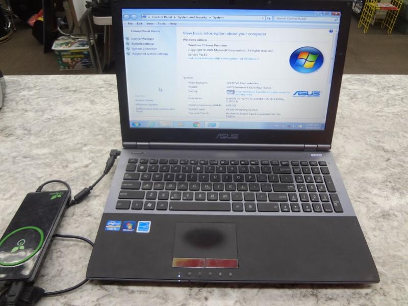 ASUS LAPTOP U56E - INTEL I3-2310M @ 2.1GHZ - 6GB RAM - 320GB HDD - WINDOWS 7
