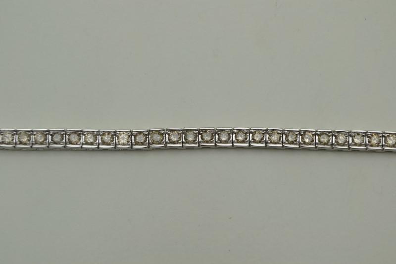 L'S 14KT Gold-Diamond Bracelet TENNIS 60 Diamonds 4.80 Carat T.W.