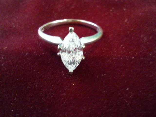 Lady's Diamond Solitaire Ring 1.04 CT. 14K White Gold 1.9g Size:5.5