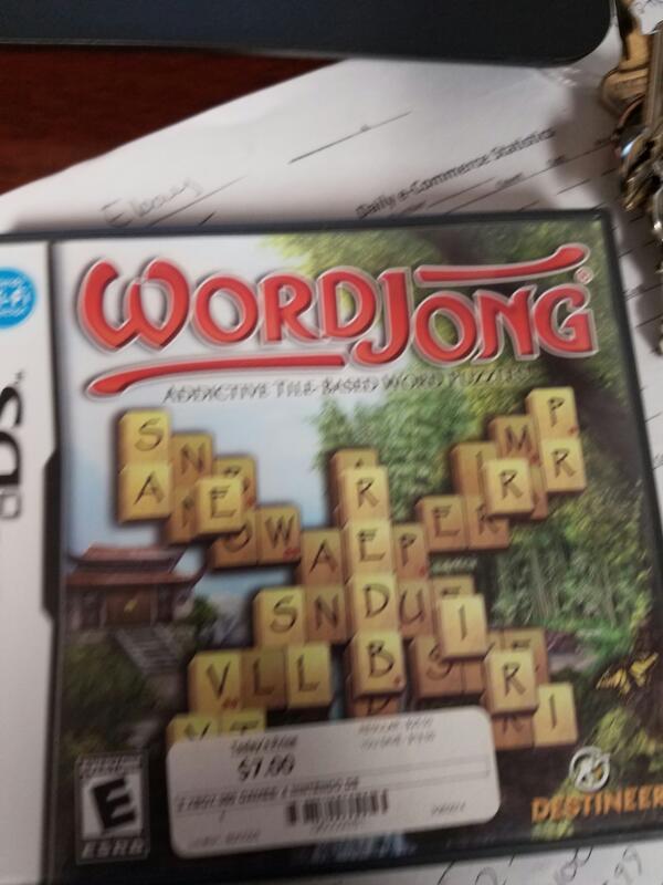 NINTENDO Nintendo DS Game WORD JONG