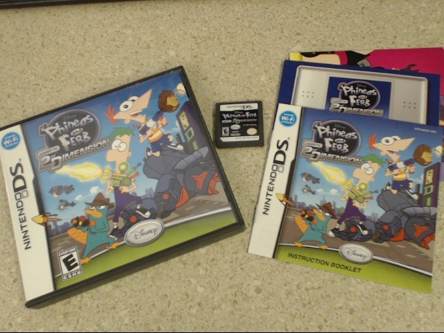 PHINEAS AND FERB ACROSS THE 2ND DIMENSION - DS GAME