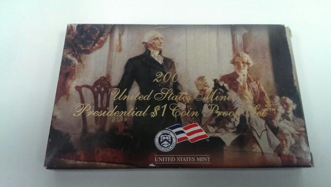 UNITED STATES 2008 PRESIDENTIAL $1 COIN PROOF SET