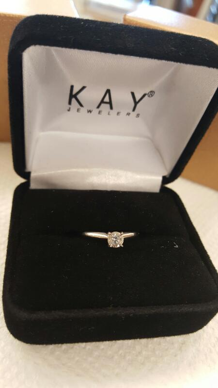Lady's Diamond Solitaire Ring .25 CT. 14K White Gold 1.28dwt