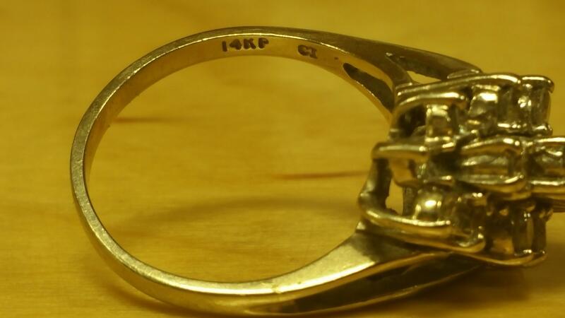 Lady's Diamond Cluster Ring 19 Diamonds .95 Carat T.W. 14K White Gold 3.4dwt