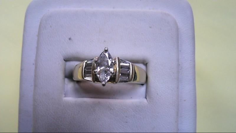 Lady's Diamond Solitaire Ring 9 Diamonds .60 Carat T.W. 14K Yellow Gold 6.6g
