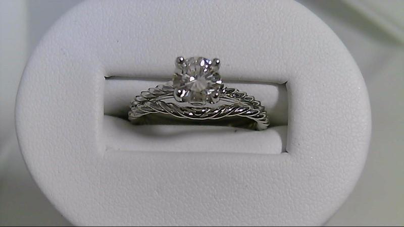 Lady's Diamond Wedding Set .75 CT. 14K White Gold 4.6g