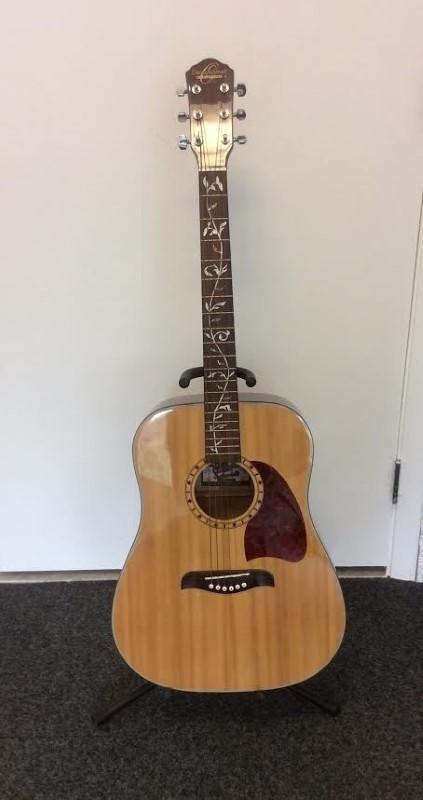oscar schmidt washburn og3 spruce top dreadnought acoustic guitar tree of life very good buya. Black Bedroom Furniture Sets. Home Design Ideas