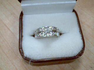 Lady's Diamond Wedding Set 19 Diamonds 1.60 Carat T.W. 14K White Gold 5.8g