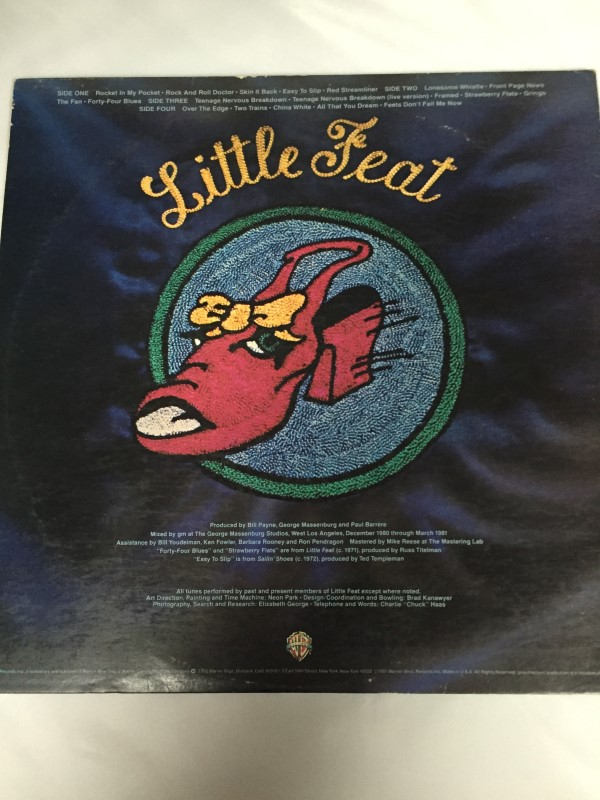 WARNER BROTHERS LITTLE FEAT RECORD