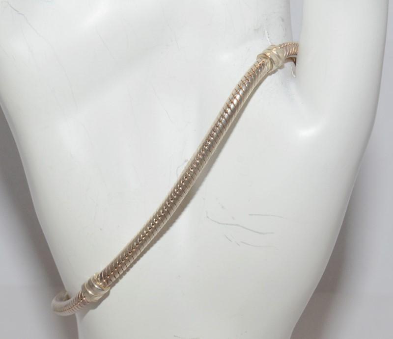 *AUTHENTIC* PANDORA BRACELET S925 WITH 14K GOLD CLASP #590702HG