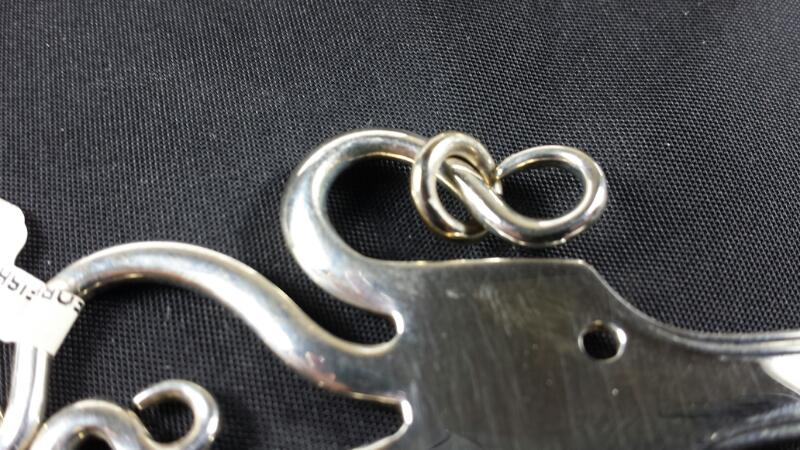 Designer Michael Kelch Fish Fork Pendant 925 Silver