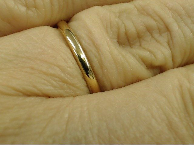 VINTAGE CLASSIC PLAIN WED RING BAND SOLID 14K YELLOW GOLD 2mm SZ 6.5