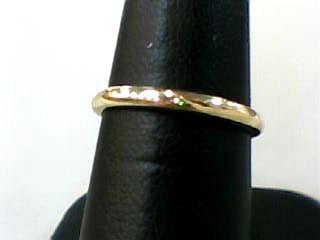Lady's Gold Wedding Band 14K Yellow Gold 1.2dwt Size:6.5