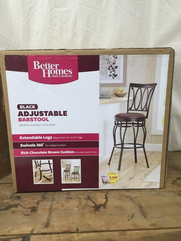 BETTER HOMES AND GARDENS Miscellaneous Furniture ADJUSTABLE BARSTOOL