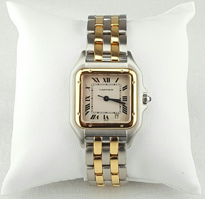 EXCELLENT CARTIER PANTHERE 1100 LADY'S WRISTWATCH 18K/STAINLESS STEEL
