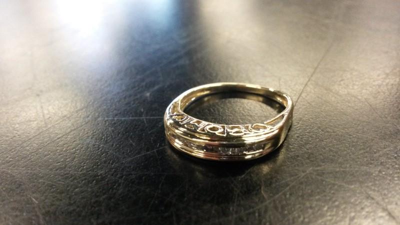 DIAMOND Lady's Diamond Fashion Ring 13 Diamonds .076 Carat T.W. 10K Yellow Gold