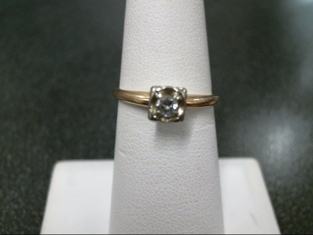 Lady's Diamond Engagement Ring .10 CT. 14K Yellow Gold 2g