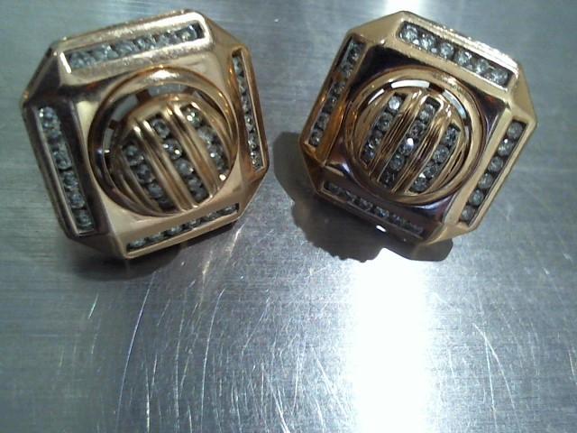 Gold-Diamond Earrings 50 Diamonds .50 Carat T.W. 14K Rose Gold 10.9g