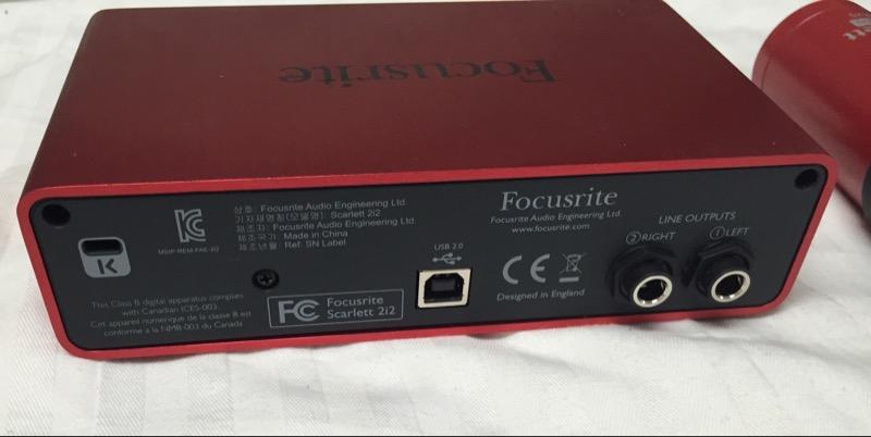 FOCUSRITE SCARLETT STUDIO CM25 MICROPHONE BUNDLE