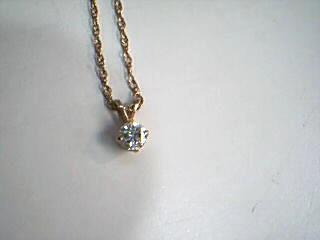 Diamond Necklace .35 CT. 14K Yellow Gold 2g