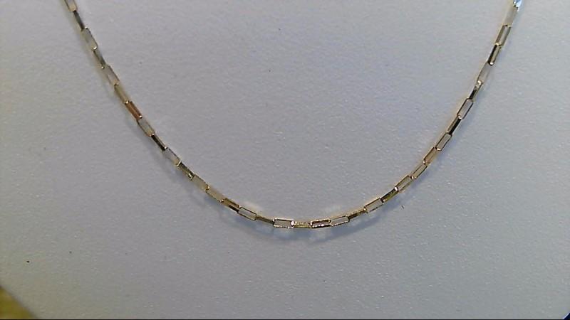 14k yellow gold 18 inch fashion chain