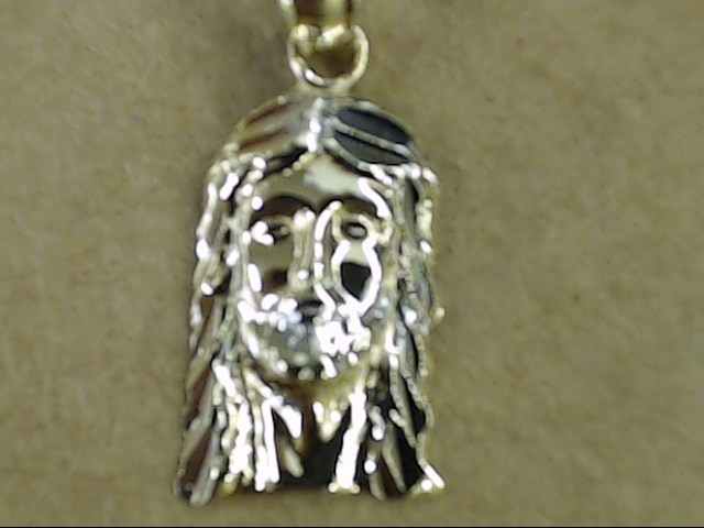 SMALL JESUS CHRIST FACE PENDANT CHARM SOLID REAL 10K GOLD RELIGIOUS