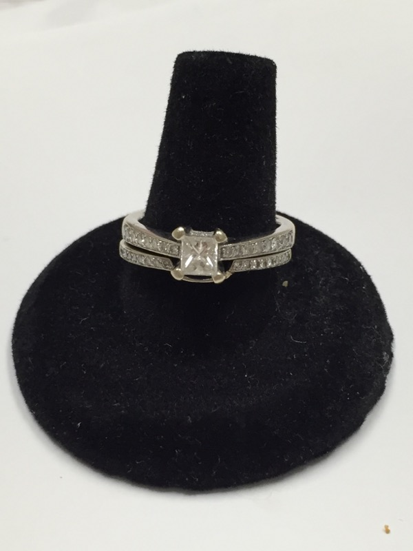 Lady's Diamond Wedding Set 67 Diamonds .86 Carat T.W. 14K White Gold 4.5dwt