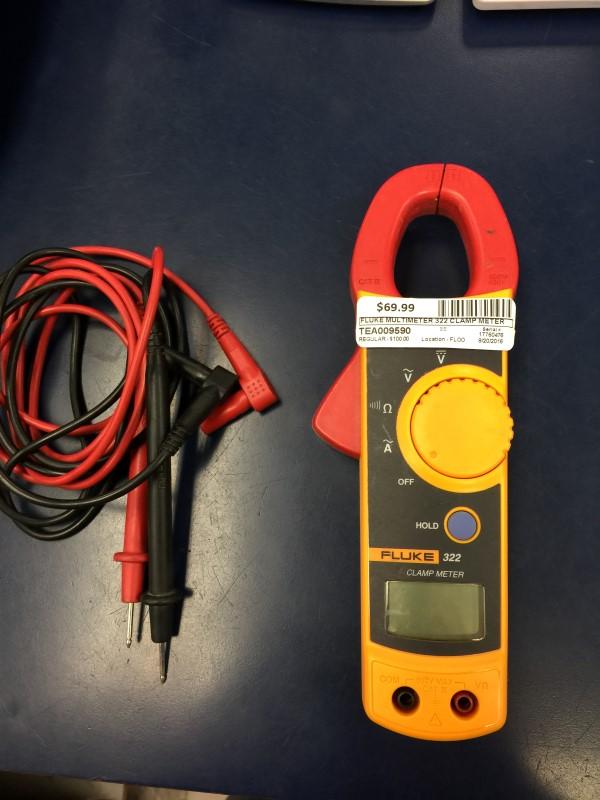 FLUKE Multimeter 322 CLAMP METER