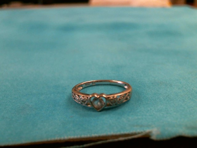 Teal Stone Lady's Stone Ring 10K Yellow Gold 1.8dwt Size:6.5