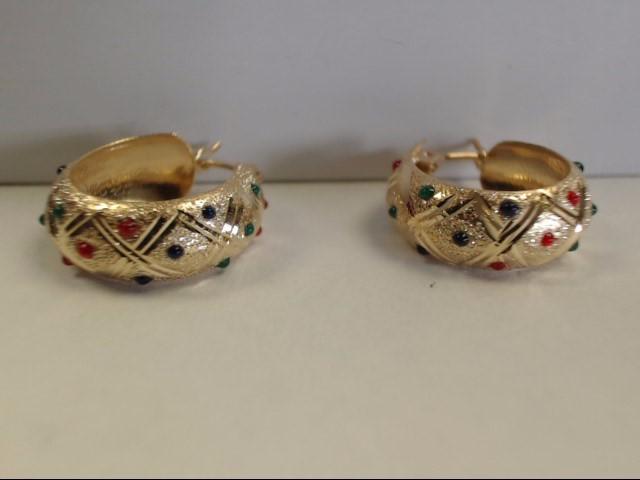 Gold Earrings 10K Yellow Gold 1.77g