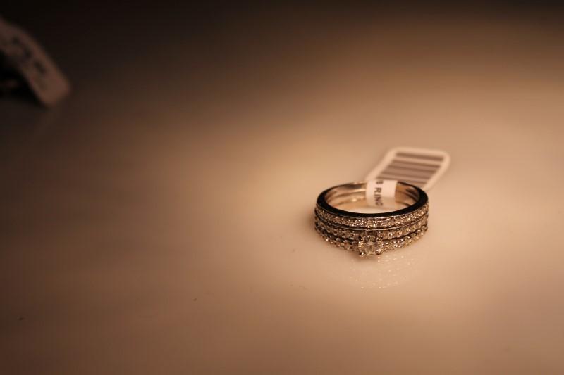 Lady's Diamond Wedding Band .20 CT. 14K White Gold 4.67g
