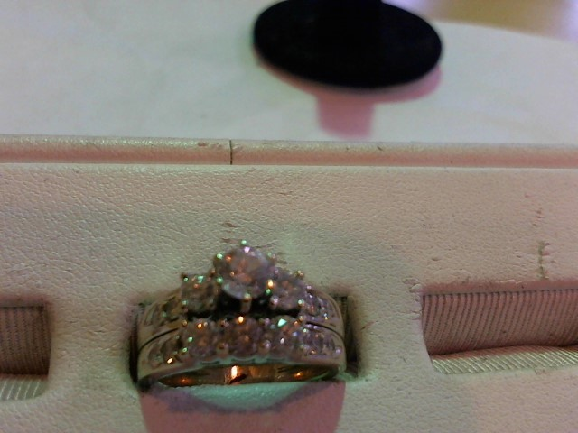Lady's Diamond Wedding Set 14 Diamonds 1.42 Carat T.W. 14K White Gold 8.2g